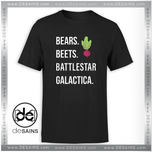 Cheap Tee Shirt The Office Bears Beets Battlestar Galactica Tshirt Size S-3XL