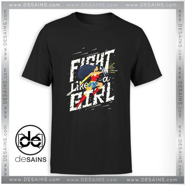 e1e912fb7 Cheap Tee Shirt Fight like a girl Wonder Woman Tshirt Size S-3XL