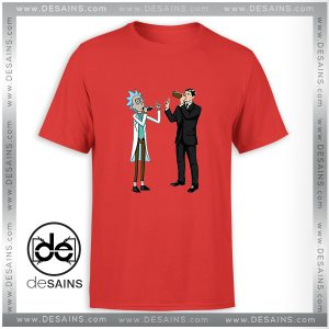 Tee Shirt Funny Rick And Archer With Drink Wine Tshirt Size S-3XL
