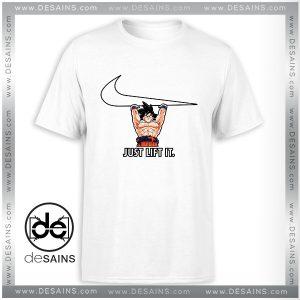 Tee Shirt Just Lift It Goku Dragon Ball Tshirt Size S-3XL