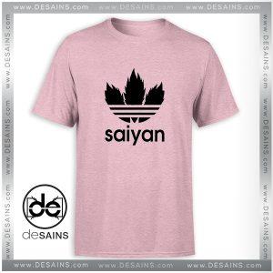 Tee Shirt Saiyan Dragon Ball Adidas Logo Parody Tshirt Size S-3XL