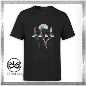 Tee Shirt Stranger Things Upside Down Abbey RoadTee Shirt Size S-3XL