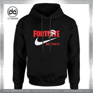 Cheap Graphic Hoodie Fortnite Just play it Nike Parody Size S-3XL