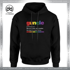 Cheap Graphic Hoodie Guncle Definition Funny Uncle Custom