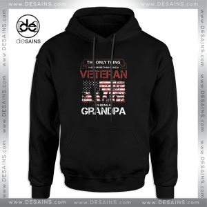 Cheap Graphic Hoodie Love Veteran Grandpa Size S-3XL