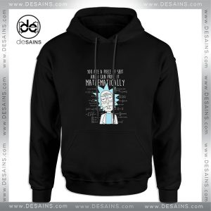 Cheap Graphic Hoodie Mathematically Rick And Morty Size S-3XL