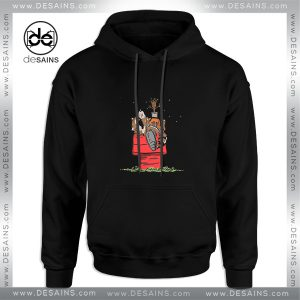 Cheap Graphic Hoodie Rocket and Groot in Snoopys World Size S-3XL