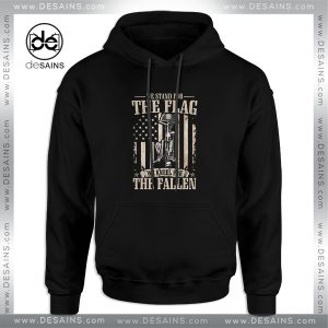 Cheap Graphic Hoodie We Stand For The Flag And We Kneel For The Fallen