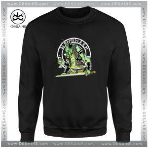 Cheap Graphic Sweatshirt Black Metal Grasshopper Logo Size S-3XL