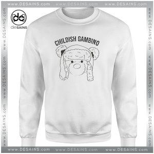 Cheap Graphic Sweatshirt Childish Gambino Teddy Bear