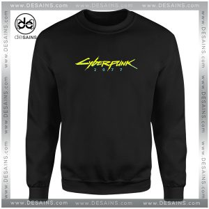 Cheap Graphic Sweatshirt Cyberpunk 2077 Game Logo Size S-3XL