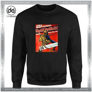 Cheap Graphic Sweatshirt Iron Maiden World Piece Tour 1983 Vintage
