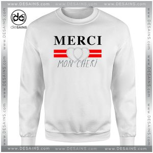 Cheap Graphic Sweatshirt Merci Mon Cheri Crewneck Size S-3XL