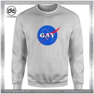 Cheap Graphic Sweatshirt Nasa Gay Pride Logo Crewneck Size S-3XL