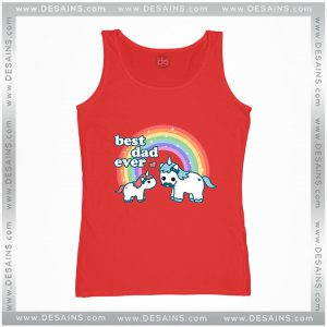 Cheap Graphic Tank Top Best Unicorn Dad Ever Size S-3XL