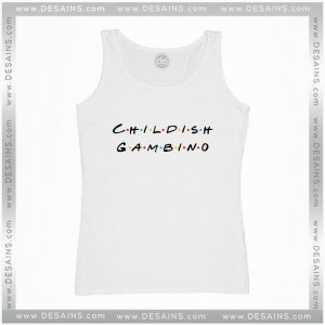 Cheap Graphic Tank Top Childish Gambino Friends Logo