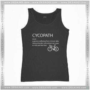 Cheap Graphic Tank Top Cycopath Noun Cycling Funny Design