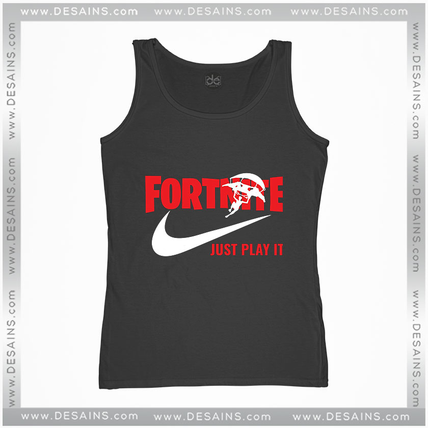 Cheap Graphic Tank Top Fortnite Just Play It Just Do It Logo Size S 3xl
