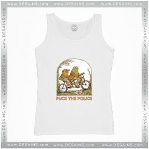 Cheap Graphic Tank Top Frog And Toad Fuck The Police