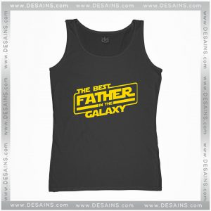 Cheap Graphic Tank Top The Best Father In The Galaxy Star Wars