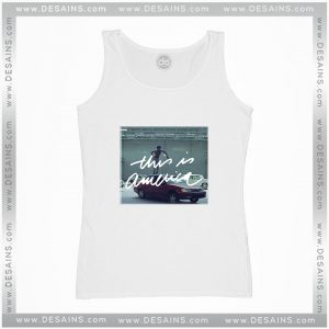Cheap Graphic Tank Top This is America Gambino Poster