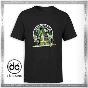 Cheap Graphic Tee Shirt Black Metal Grasshopper Logo Size S-3XL