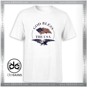 Cheap Tee Shirt God Bless America Logo Tshirt Size S-3XL