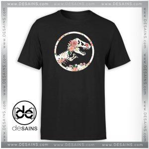Cheap Tee Shirt Jurassic Floral Jurassic Park Tshirt Size S-3XL