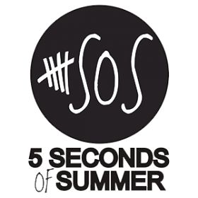 5 Seconds of Summer Logo Cheap Graphic Tee Shirt