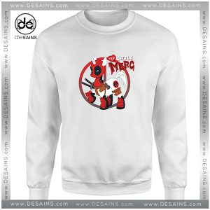 Cheap Graphic Sweatshirt Unipool Deadpool Unicorn Crewneck Size S-3XL