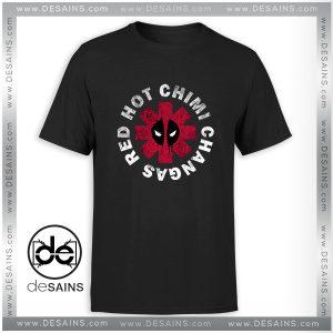 Cheap Graphic Tee Shirt Deadpool Red Hot Chimi T-shirt Size S-3XL