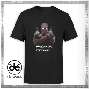 Cheap Graphic Tee Shirt Deadpool Wakanda Forever Black Panther Size S-3XL