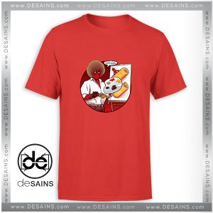 Cheap Graphic Tee Shirt Happy Little Chimichangas Deadpool Size S-3XL
