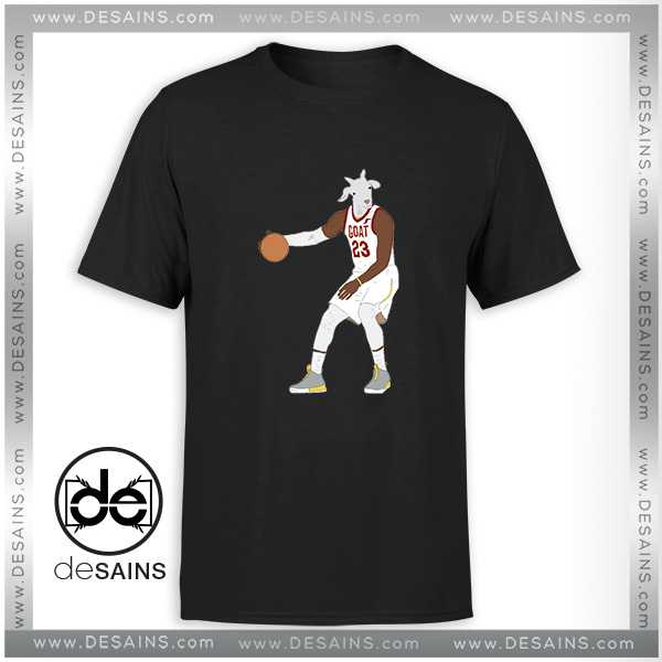 more photos 5090c 25adb Cheap Graphic Tee Shirt LeBron James The GOAT NBA Tshirt Size S-3XL