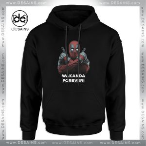 Cheap Hoodie Deadpool Wakanda Forever Black Panther Hoodies Adult Unisex