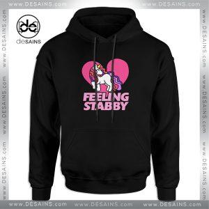 Cheap Hoodie Feeling Stabby Unicorn Hoodies Adult Unisex Size 3XL