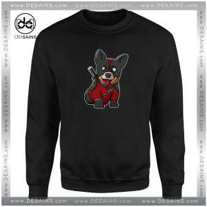 Cheap Sweatshirt Corgi Puppies CorgiPool Deadpool Crewneck Size S-3XL