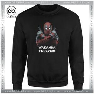 Cheap Sweatshirt Deadpool Wakanda Forever Black Panther Crewneck Shop