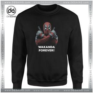 Cheap Sweatshirt Deadpool Wakanda Forever Black Panther Crewneck Shop