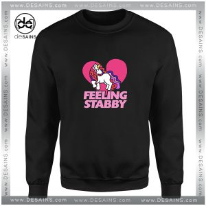 Cheap Sweatshirt Feeling Stabby Unicorn Crewneck Shop Size S-3XL