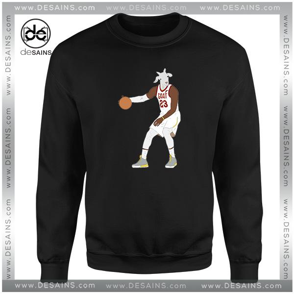 huge selection of 4e020 f0838 Cheap Sweatshirt LeBron James The GOAT NBA Crewneck Size S-3XL