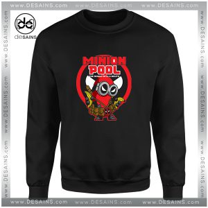Cheap Sweatshirt Minion Pool Deadpool Funny Crewneck Size S-3XL