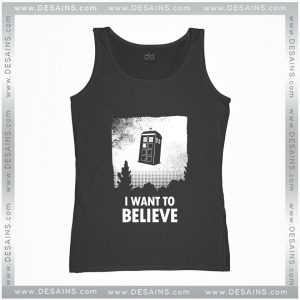 Best Graphic Tank Top I Want to Believe Tardis Size S-3XL Review