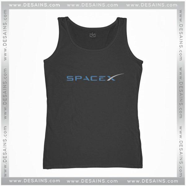 Buy Cheap Graphic Tank Top Space X Elon Musk Logo Size S-3XL
