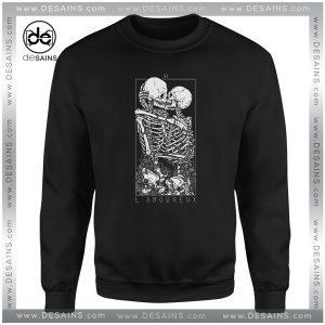 Buy Cheap Sweatshirt LAmoureux The Lovers Skull Skeleton Size S-3XL