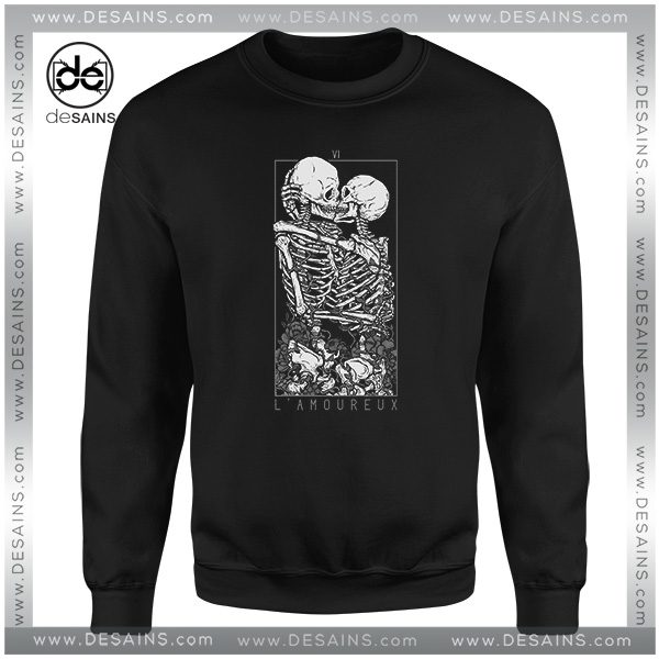 Buy Cheap Sweatshirt LAmoureux The Lovers Skull Skeleton Size S-3XL