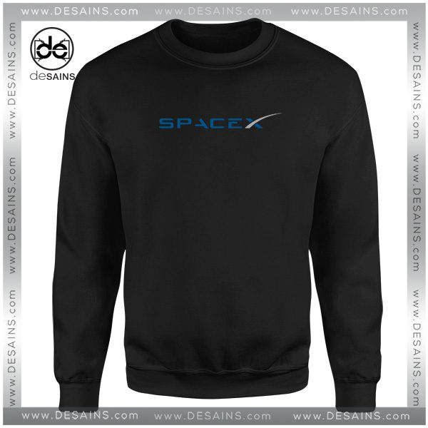 Buy Cheap Sweatshirt Space X Elon Musk Logo Crewneck Size S-3XL