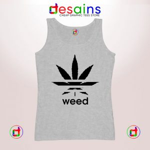 Buy Graphic Tank Top Weed Plant Parody Adidas Logo Size S-3XL