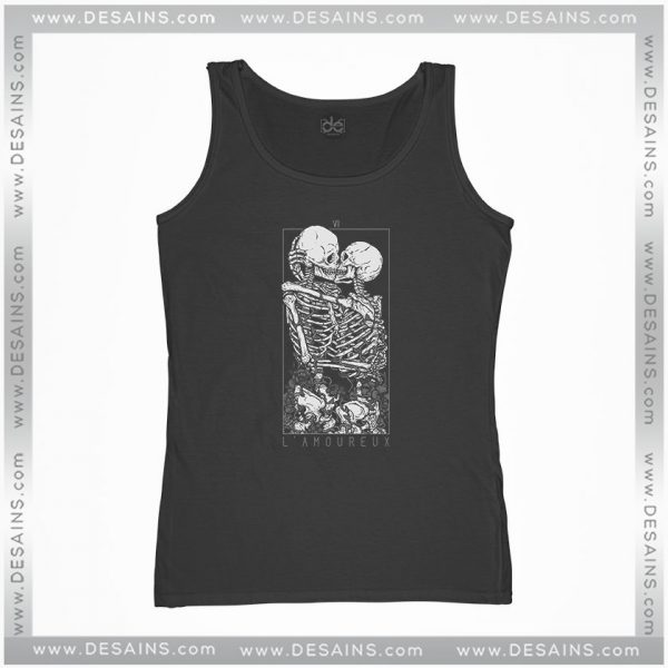 Cheap Tank Top LAmoureux The Lovers Skull Skeleton Size S-3XL