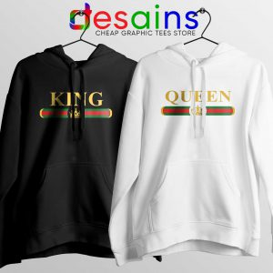 Buy Couple Hoodie King Queen Gucci Cheap Couple Hoodies Size S-3XL